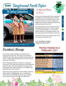 Tanglewood North Topics – April 2021